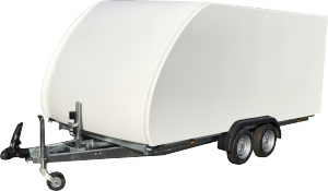 covered car trailer